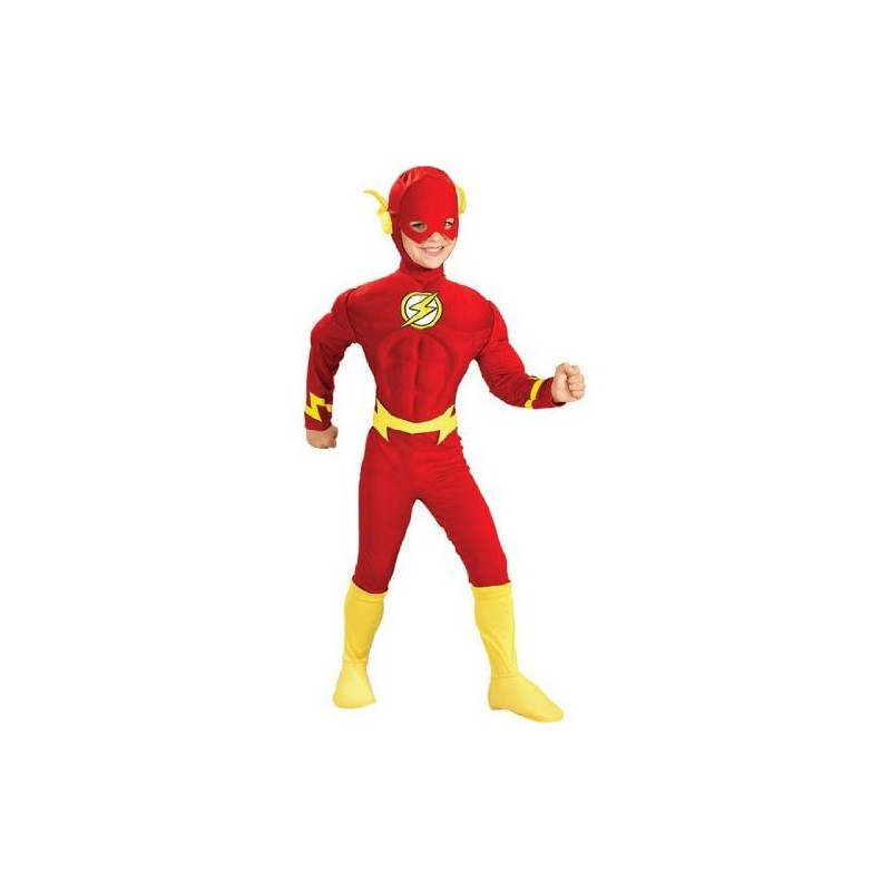 Fantasia Infantil The Flash Músculos Meninos Super Heróis