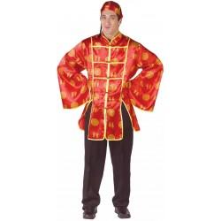 Fantasia Masculina Oriental Homem Asiático Festa Halloween