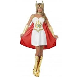 Fantasia Feminina Luxo She-Ra Shera Festa Halloween