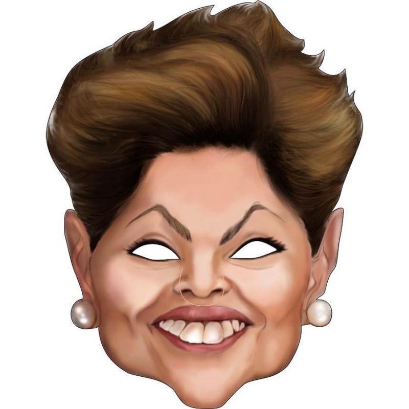 Máscara Unissex Adulto Presidenta Dilma Carnaval Bloco Fantasia