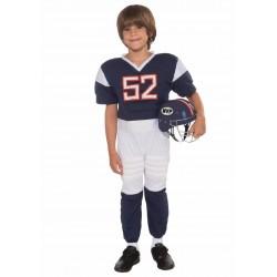 Fantasia Infantil Jogador de Futebol Americano Meninos Halloween Carnaval