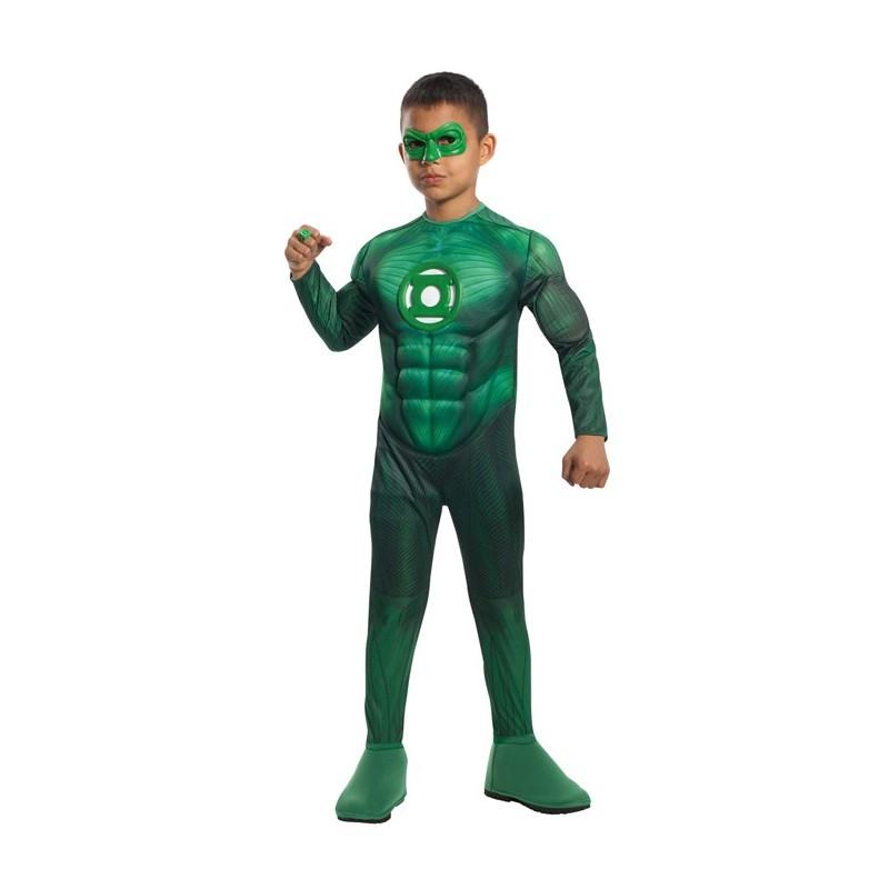 Fantasia Infantil Lanterna Verde Festa Carnaval Halloween Meninos