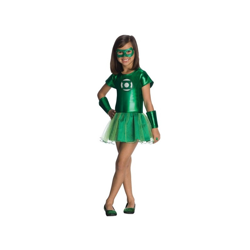 Fantasia Infantil Lanterna Verde Meninas Festa Carnaval Halloween