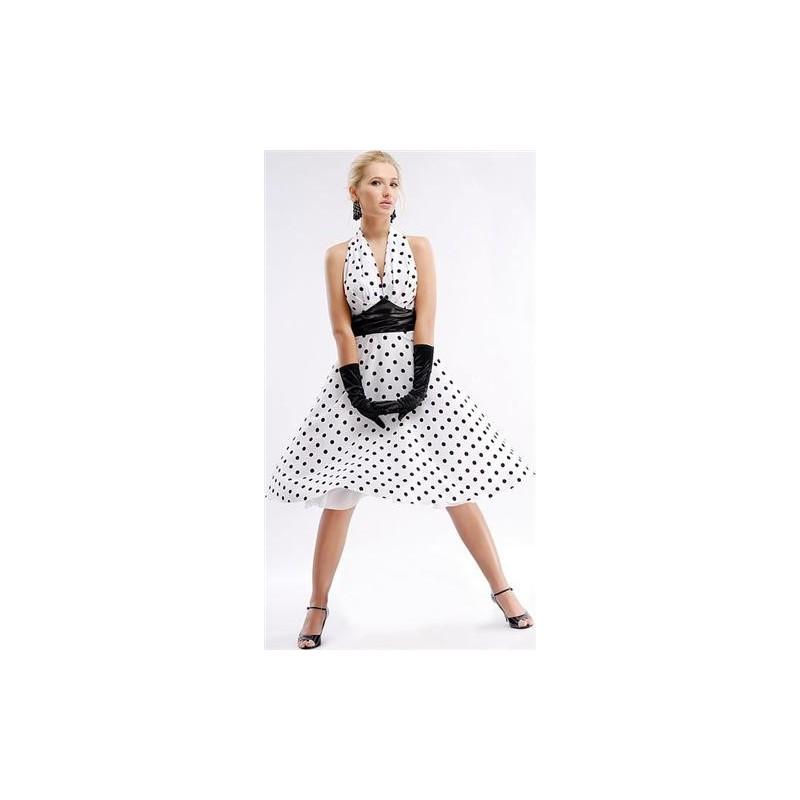 Fantasia Feminina Anos 50 Vestido Bolinha Poa