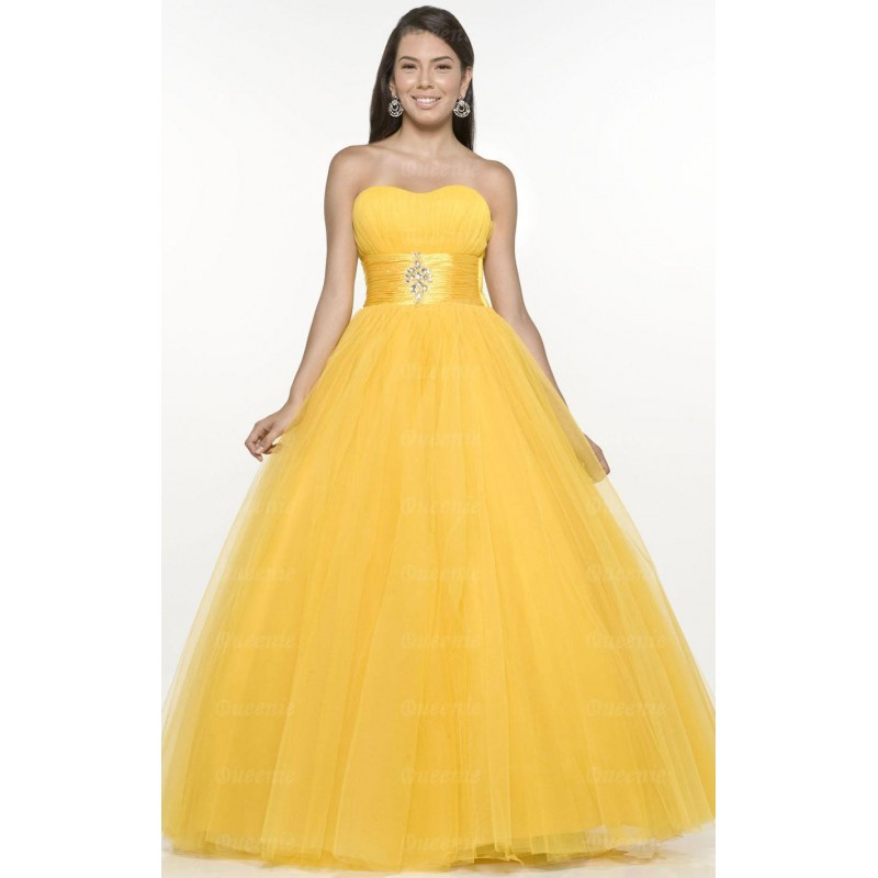 Vestido Longo Amarelo Decote Coracao Festa Formatura Baile