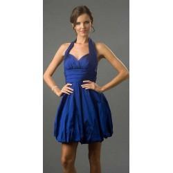 Vestido Festa Balone Curto Azul