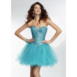 Vestido Festa Paete Brilho Azul Celeste Curto Tule