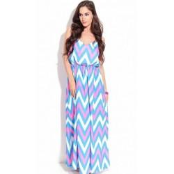 Vestido Estampado Longo Maxi Dress Colorido