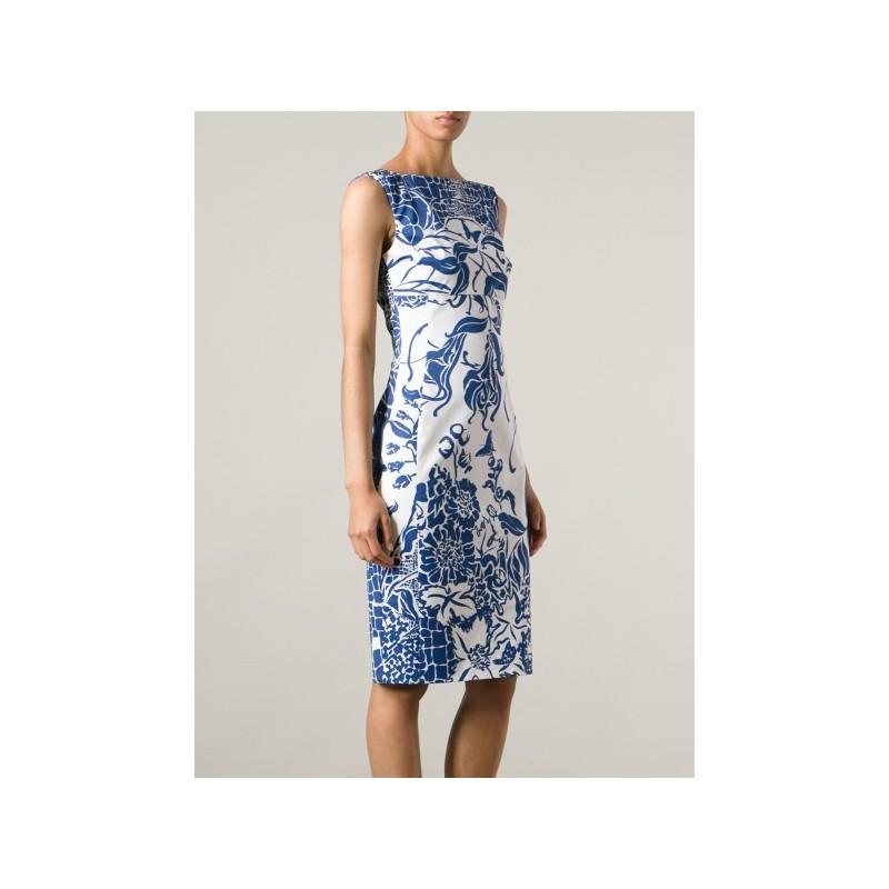 Vestido Estampado Azul Floral Casual