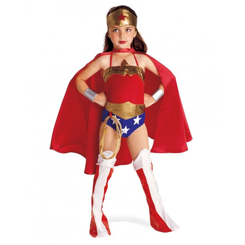 Fantasia Infantil Meninas Mulher Maravilha Carnaval Halloween
