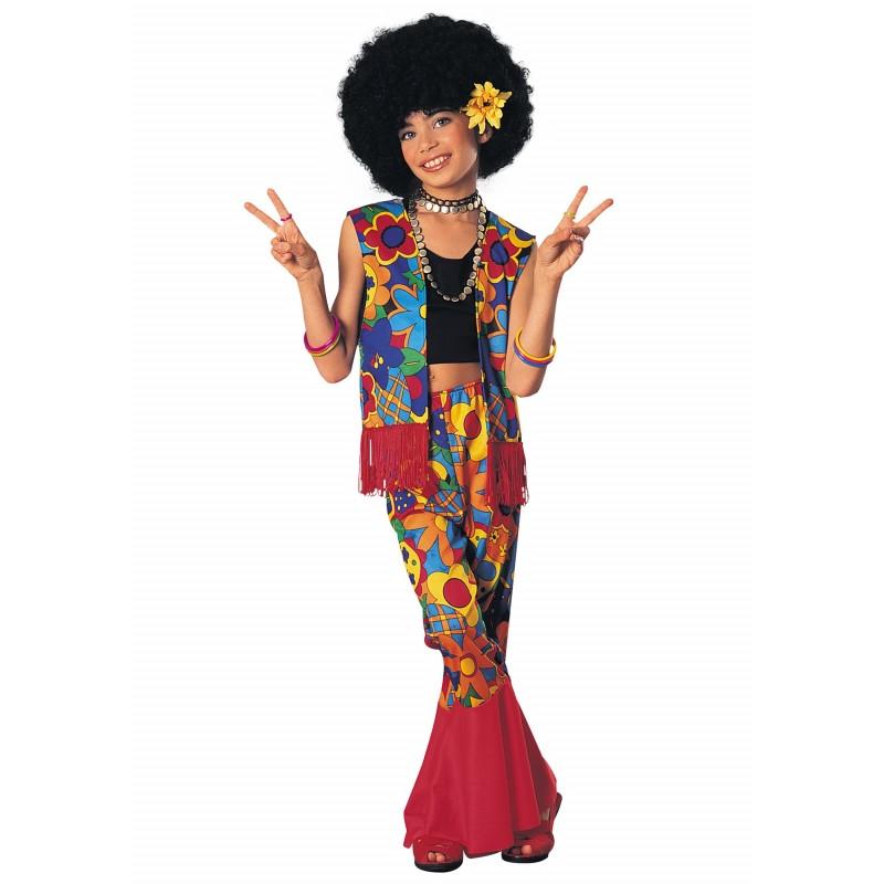 Fantasia Infantil Hippie Anos 70 Carnaval Halloween