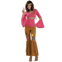 Fantasia Feminina Hippie Anos 70 Carnaval Halloween