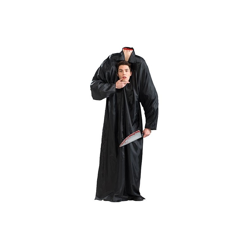 Fantasia Masculina Terror Homem sem Cabeça Carnaval Halloween