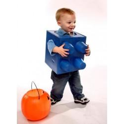 Fantasia Infantil Lego Azul Carnaval Halloween