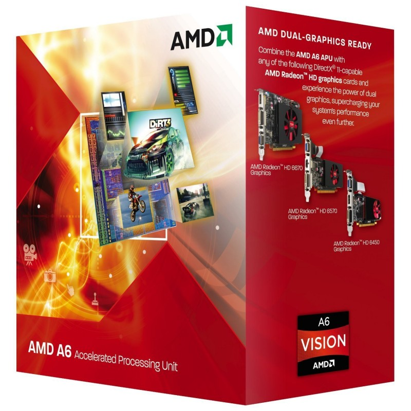 Processador AMD A6 Series A6-3600 Six Core 2.1GHz Socket FM1 Gráfico HD Integrado