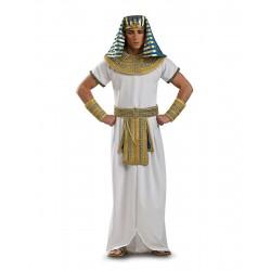 Fantasia Masculina Faraó Príncipe do Egito para Carnaval ou Halloween