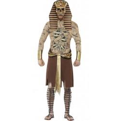 Fantasia Masculina Múmia do Faraó para Carnaval ou Halloween