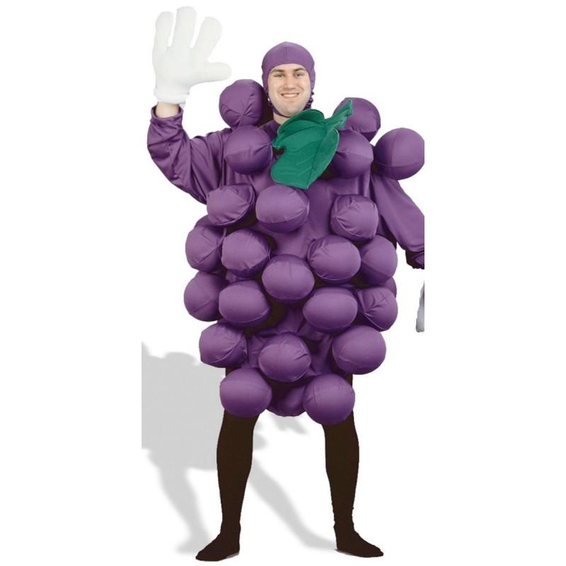 Fantasia Adulto Frutas Cacho de Uva para Carnval ou Halloween
