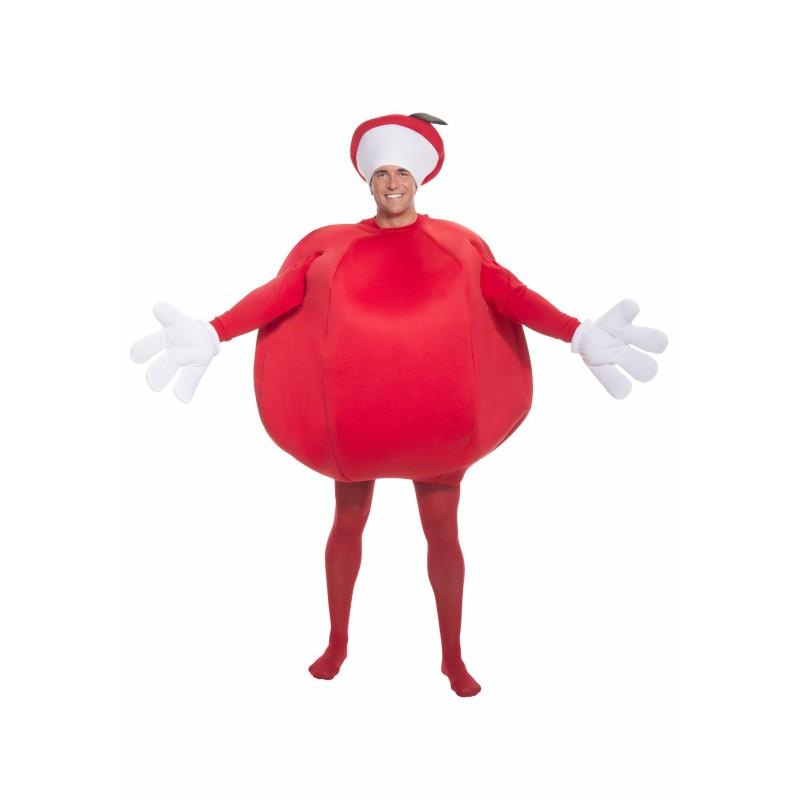 Fantasia Adulto Frutas Maça para Carnaval ou Halloween