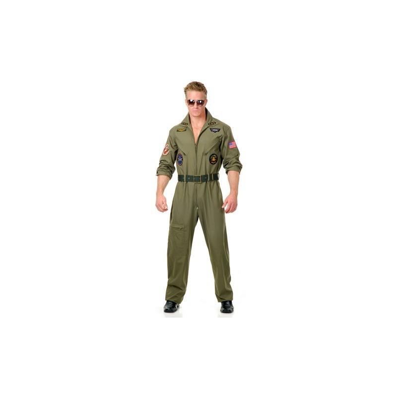 Fantasia Masculina Piloto de Guerra Soldado para Carnaval ou Halloween