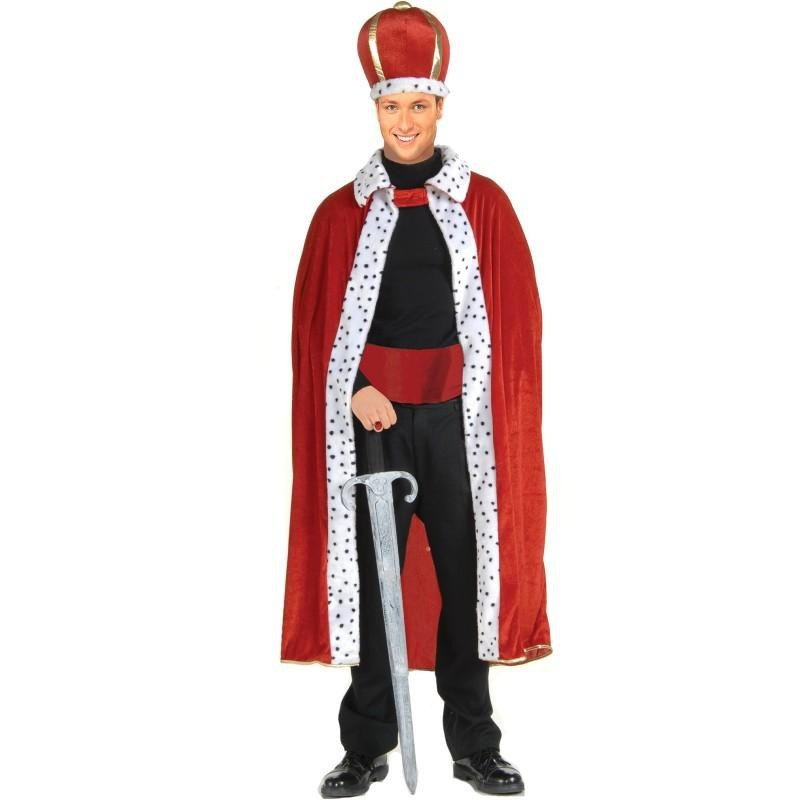 Fantasia Masculina Rei com Espada Carnaval Halloween