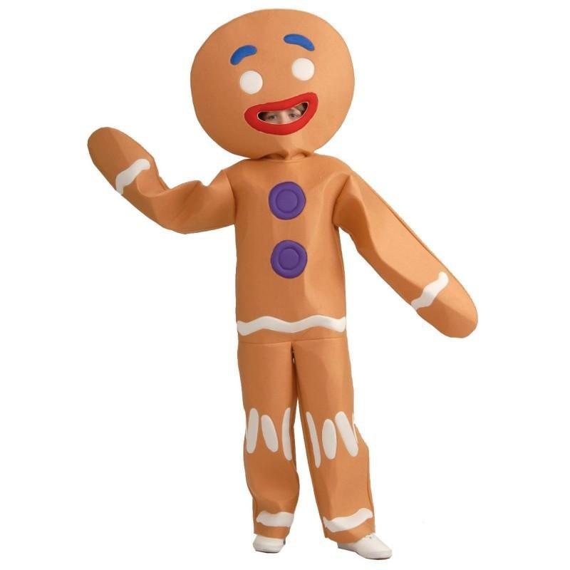 Fantasia Infantil Biscoito de Gengibre Shreak Carnaval Halloween