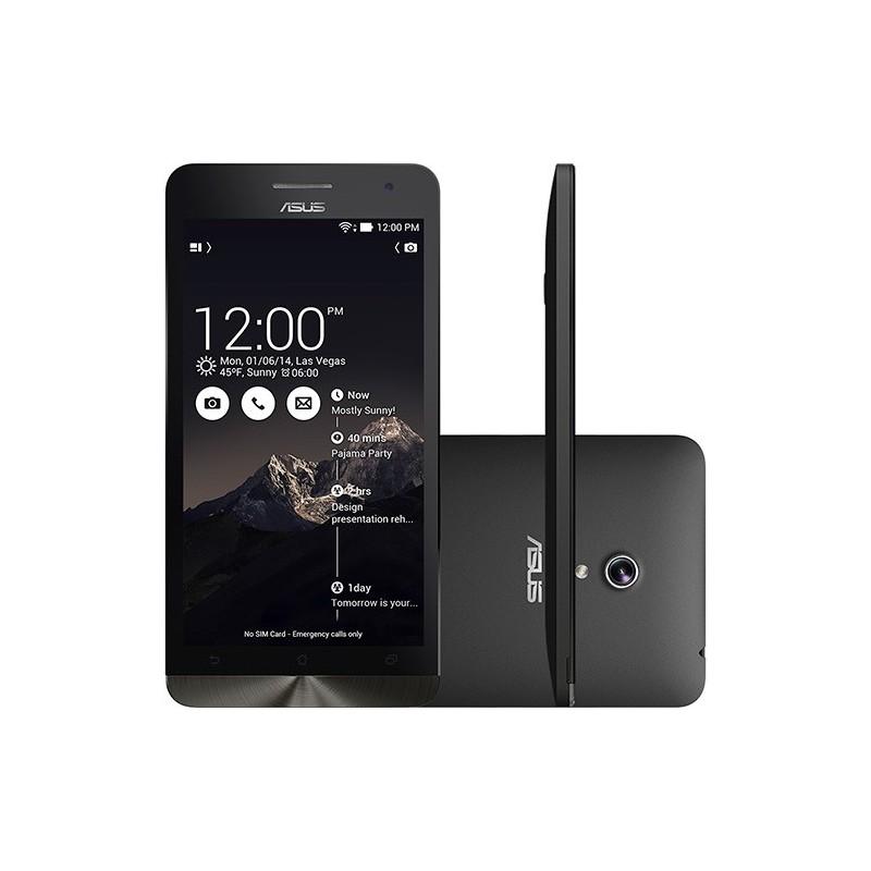 "Smartphone Asus ZenFone 6 Dual Chip Desbloqueado Android 4.4 Tela 6"" 16GB 3G Wi-Fi Preto"