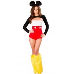 Fantasia Feminina Mickey Mouse Halloween Festa a Fantasia