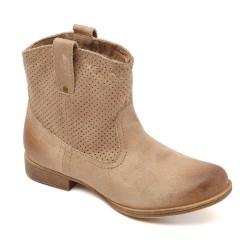 Unkle Boot Camursa Feminina Bege Nude