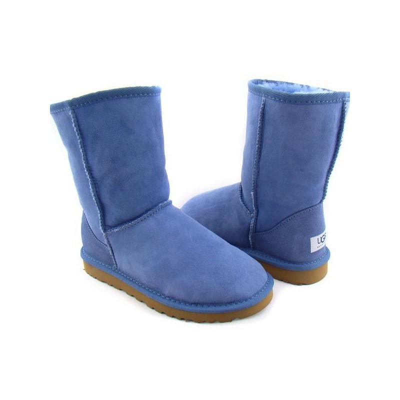 Bota de Inverno Azul Camursa com Lã