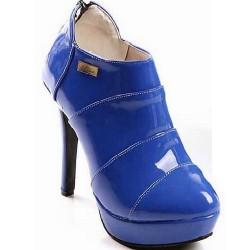 Bota Feminina Unkle Boot Azul Royal Salto Alto