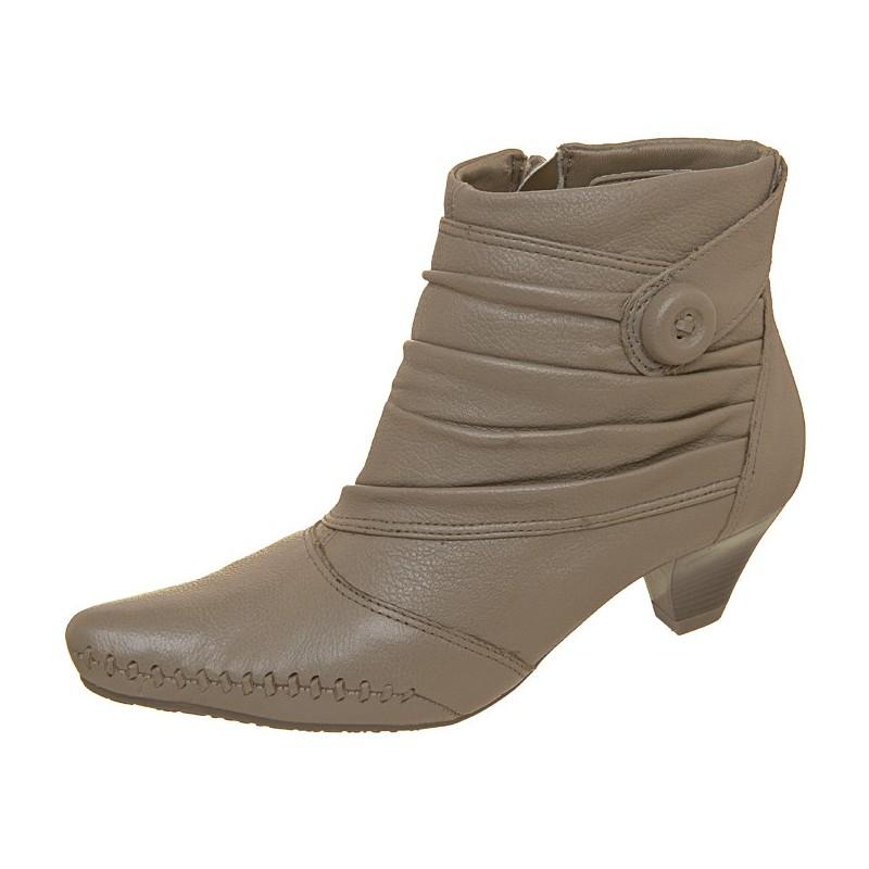 Bota Feminina Unkle Boot Bege Nude Salto Médio