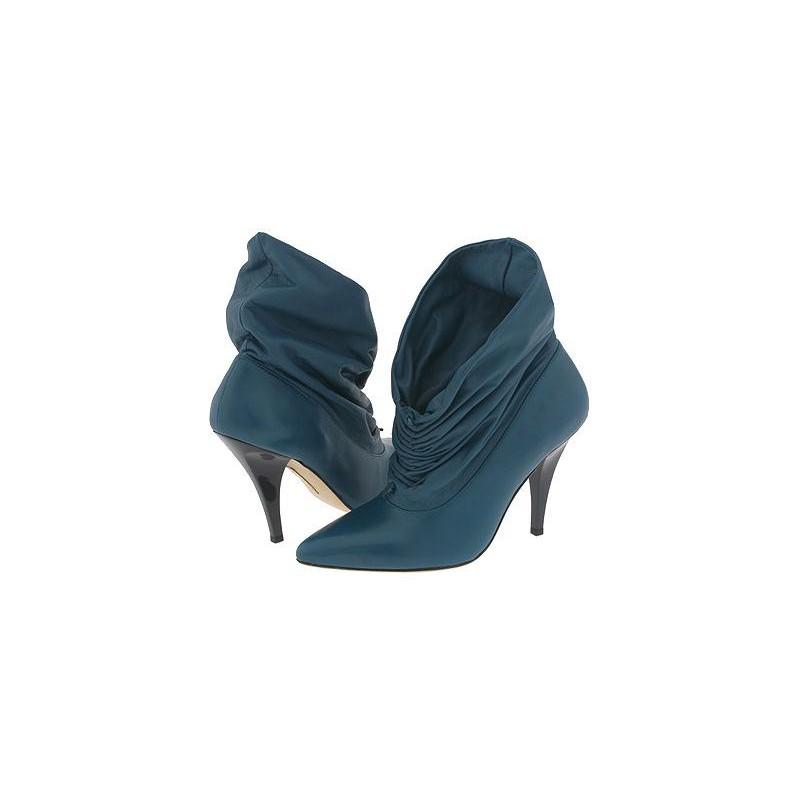 Bota Feminina Unkle Boot Azul Petróleo Salto Alto Bico Fino
