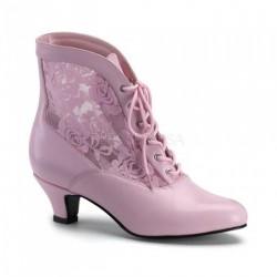 Bota Feminina Unkle Boot Rosa Bebê com Renda