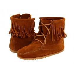 Bota Feminina Unkle Boot Couro Franjas