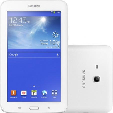 "Tablet Samsung Galaxy Tab 3 T110N Tela 7"" Lite Android 4.2 Touchscreen Wi-Fi 8GB Branco"