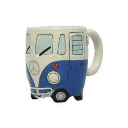 Caneca de café Kombi Branca e Azul Presente Criativo