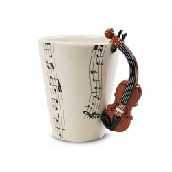 Caneca de café Alça de Violino Presente Criativo