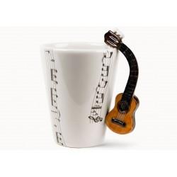 Caneca de café Alça de Violão Presente Criativo