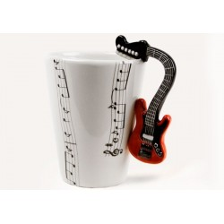 Caneca de café Alça de Guitarra Presente Criativo