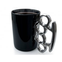 Caneca de café Soco Inglês Preta Presente Criativo para Homens