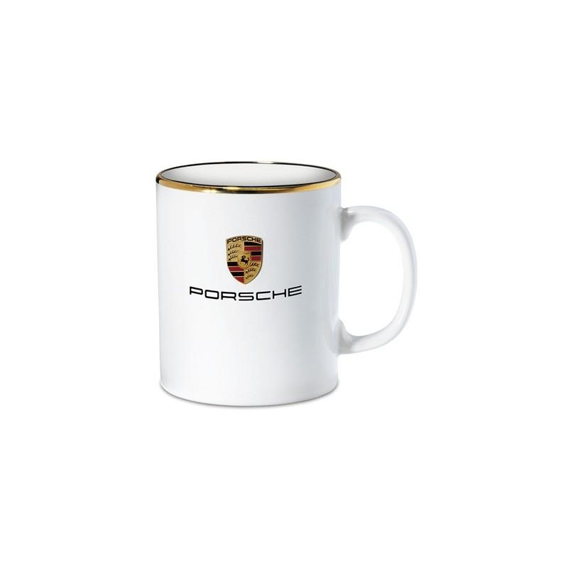Caneca de café Porsche Branca Presente Criativo para Homens