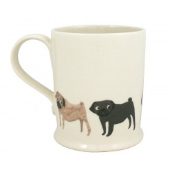 Caneca de Café Desenho de Cachorro Pug Presente Criativo