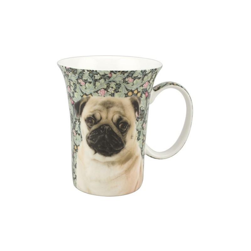 Caneca de Café de Cachorro Pug Presente Criativo
