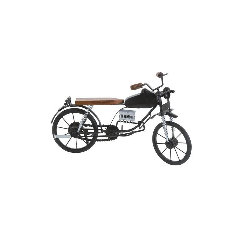 Moto Retrô em Miniatura Decorativa Madeira