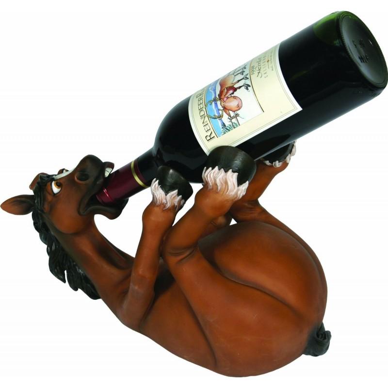 Suporte para Garrafas de Vinho Cavalo Divertido