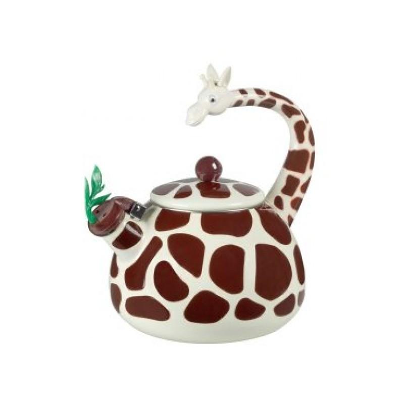 Chaleira Decorativa Esmaltada Girafa