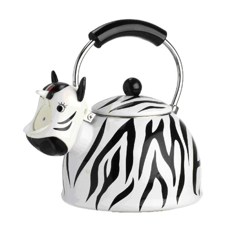 Chaleira Decorativa Esmaltada Zebra