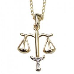 Pingente Profissões Direito Advogada Folheado