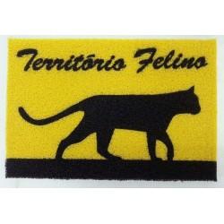 Tapete Capacho de Porta Criativo Território Felino